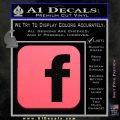Facebook Customizable Decal Sticker Pink Emblem 120x120
