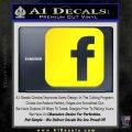 Facebook Customizable Decal Sticker Yellow Laptop 120x120
