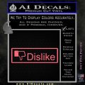 Facebook Dislike Decal Sticker Pink Emblem 120x120