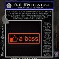 Facebook Like A Boss Decal Sticker Orange Emblem 120x120