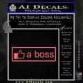 Facebook Like A Boss Decal Sticker Pink Emblem 120x120