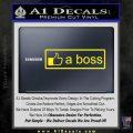 Facebook Like A Boss Decal Sticker Yellow Laptop 120x120