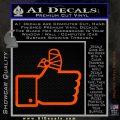 Facebook Like Decal Sticker Busted Thumb Orange Emblem 120x120