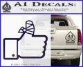 Facebook Like Decal Sticker Busted Thumb PurpleEmblem Logo 120x97