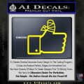 Facebook Like Decal Sticker Busted Thumb Yellow Laptop 120x120