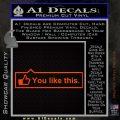 Facebook You Like This Decal Sticker Orange Emblem 120x120