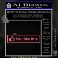Facebook You Like This Decal Sticker Pink Emblem 120x120