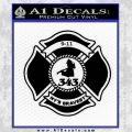 Fire Fighter 9 11 Decal Sticker Black Vinyl 120x120