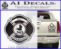 Fire Fighter 9 11 Decal Sticker Carbon FIber Black Vinyl 120x97