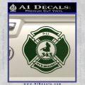 Fire Fighter 9 11 Decal Sticker Dark Green Vinyl 120x120