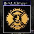 Fire Fighter 9 11 Decal Sticker Gold Vinyl 120x120
