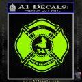 Fire Fighter 9 11 Decal Sticker Lime Green Vinyl 120x120