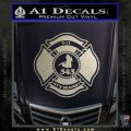 Fire Fighter 9 11 Decal Sticker Metallic Silver Emblem 120x120