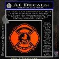 Fire Fighter 9 11 Decal Sticker Orange Emblem 120x120
