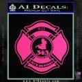 Fire Fighter 9 11 Decal Sticker Pink Hot Vinyl 120x120