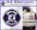 Fire Fighter 9 11 Decal Sticker PurpleEmblem Logo 120x97