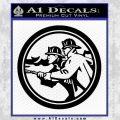 Fire Fighter Decal Sticker Circle Black Vinyl 120x120