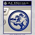 Fire Fighter Decal Sticker Circle Blue Vinyl 120x120