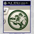Fire Fighter Decal Sticker Circle Dark Green Vinyl 120x120