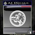 Fire Fighter Decal Sticker Circle Gloss White Vinyl 120x120