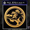 Fire Fighter Decal Sticker Circle Gold Vinyl 120x120