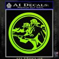 Fire Fighter Decal Sticker Circle Lime Green Vinyl 120x120