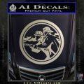 Fire Fighter Decal Sticker Circle Metallic Silver Emblem 120x120