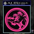 Fire Fighter Decal Sticker Circle Pink Hot Vinyl 120x120