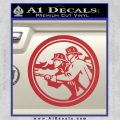Fire Fighter Decal Sticker Circle Red 120x120