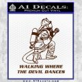 Fire Fighter Decal Sticker Devil Dances BROWN Vinyl 120x120