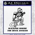 Fire Fighter Decal Sticker Devil Dances Black Vinyl 120x120