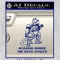 Fire Fighter Decal Sticker Devil Dances Blue Vinyl 120x120