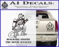 Fire Fighter Decal Sticker Devil Dances Carbon FIber Black Vinyl 120x97