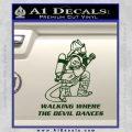 Fire Fighter Decal Sticker Devil Dances Dark Green Vinyl 120x120