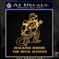 Fire Fighter Decal Sticker Devil Dances Gold Vinyl 120x120