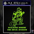Fire Fighter Decal Sticker Devil Dances Lime Green Vinyl 120x120