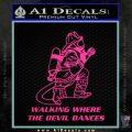 Fire Fighter Decal Sticker Devil Dances Pink Hot Vinyl 120x120