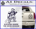 Fire Fighter Decal Sticker Devil Dances PurpleEmblem Logo 120x97