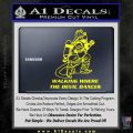 Fire Fighter Decal Sticker Devil Dances Yellow Laptop 120x120