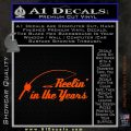 Fishing Decal Sticker Reelin In The Years Orange Emblem 120x120