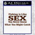 Fishing Is Like Sex Decal Sticker BROWN Vinyl 120x120