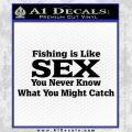 Fishing Is Like Sex Decal Sticker Black Vinyl 120x120