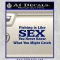 Fishing Is Like Sex Decal Sticker Blue Vinyl 120x120