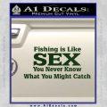 Fishing Is Like Sex Decal Sticker Dark Green Vinyl 120x120