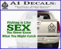 Fishing Is Like Sex Decal Sticker Green Vinyl Logo 120x97