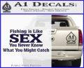 Fishing Is Like Sex Decal Sticker PurpleEmblem Logo 120x97