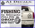 Fishing Is Simple Pull Pin Decal Sticker Carbon FIber Black Vinyl 120x97