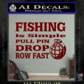 Fishing Is Simple Pull Pin Decal Sticker DRD Vinyl 120x120
