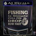 Fishing Is Simple Pull Pin Decal Sticker Metallic Silver Emblem 120x120