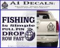 Fishing Is Simple Pull Pin Decal Sticker PurpleEmblem Logo 120x97